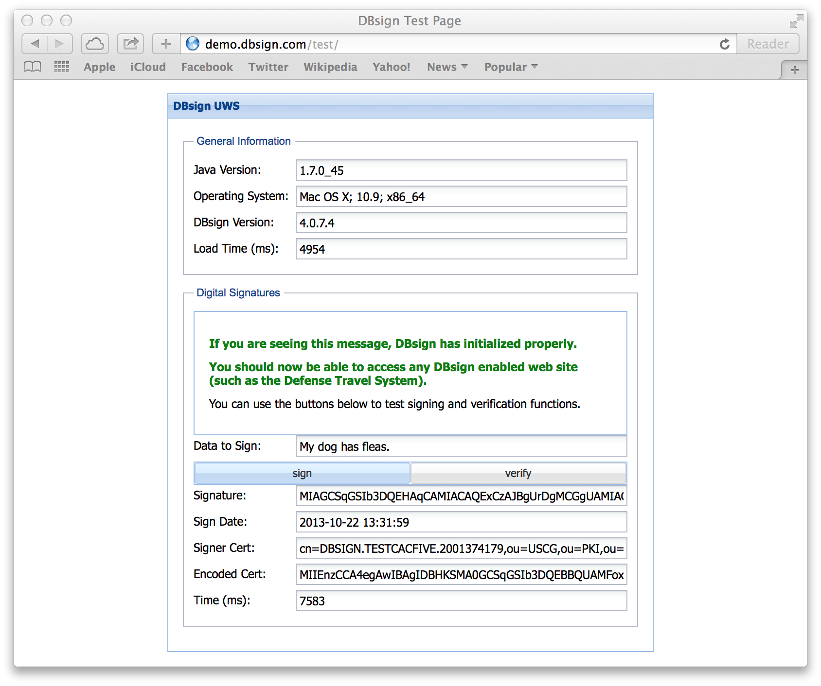 Using Dbsign On Os Xmacos